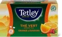 Tetley Green Tea Orange & Guarana 43.75g