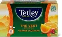 Tetley Green Tea Orange & Guarana 43.75g