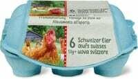 Oeufs suisses plein air, 6 x 53g+