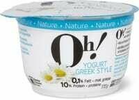 Oh! Yogurt Greek style Nature 170g