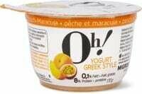 Oh! Yogurt Greek style pêche-maracuja 170g