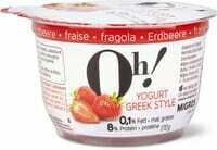 Oh! Yogurt Greek style fraise 170g