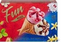 Fun cornet petit Vanille & fraise 8 x 60ml