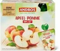 Andros bag pomme nat. 0% 8 x 100g