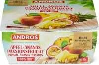 Andros sans sucres pomme ananas passion 4 x 100g
