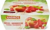 Andros pomme framboise 4 x 100g