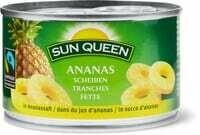 Sun Queen Max Hav Tranches d'ananas 140g