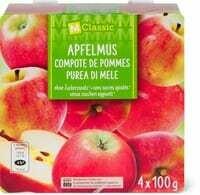M-Classic compote de Pommes sans sucres 4 x 100g