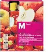 M-Classic Compote de pommes et de fraises 4 x 100g