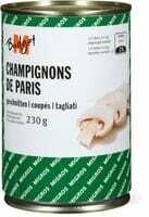 M-Budget Champignons de Paris coupés 230g