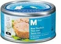 M-Classic canne Thon rosé à l'eau 155g