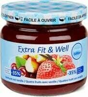 Extra fit & well Quatre fruits-vanil. 365g