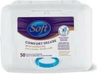Soft Lingettes imprégnées Comfort Deluxe en boîte 50 Pce