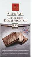 Suprême 83% cacao Républi. Dominicaine 100g
