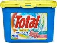 Total Produit de lessive Color Caps en boîte 1 pièce
