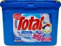 Total Produit de lessive 1 for All Multicaps en boîte 1 pièce
