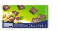 Quadretti Chocolat au lait et noisettes 100g