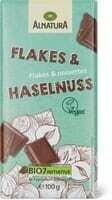 Alnatura chocolat Flakes & noisettes 100g