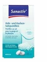 Sanactiv Pastilles au sel pour la gorge et le pharynx