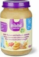 Mibébé bananepomme céréales 190 g