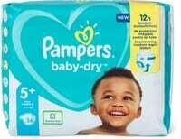 Pampers Baby Dry Gr. 5+, Junior Plus 12-17kg 36 pce.