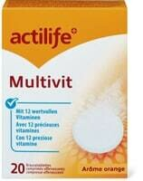 Actilife Multivit Arôme orange 20 pastilles