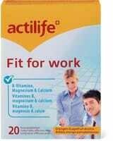 Actilife Fit for Work 20 pastilles