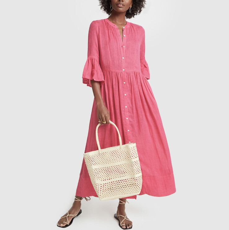 Solid & Striped, Linen Button Dress