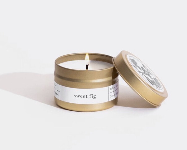 Brooklyn Candle, Gold Travel, Sweet Fig