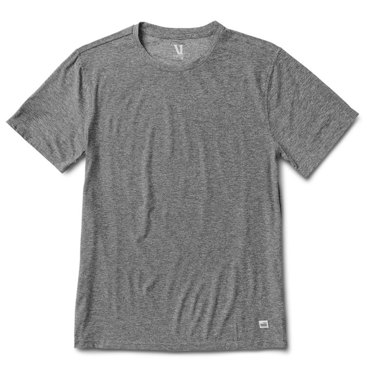 Vuori, Strato Tech Tee, Heather Grey