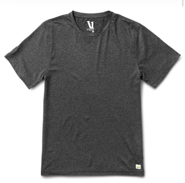 Vuori, Strato Tech Tee, Charcoal Heather