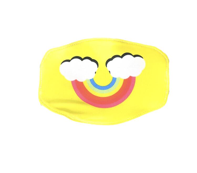 Goldsheep, Kid's Face Mask, Yellow Rainbow