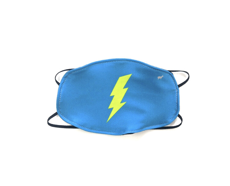 GoldSheep, Kid's Face Mask, Lightning Bolt