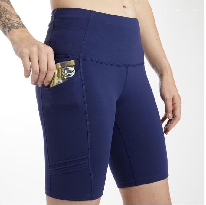 oiselle, long pocket jogger shorts