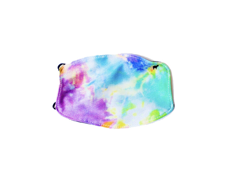 Goldsheep, Kid's Face Mask, Neon Tie Dye