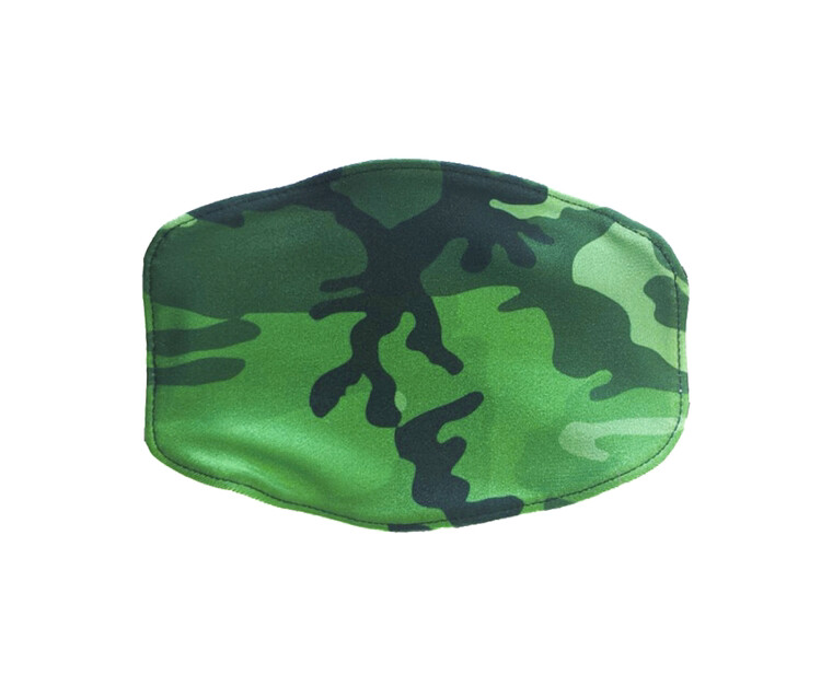 Goldsheep, Kid's Face Mask, Army Green Camo