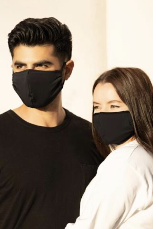 Onzie, Face Mask, Unisex Black (2 pack)