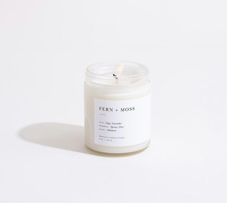 Brooklyn Candle, Minimalist, Fern & Moss