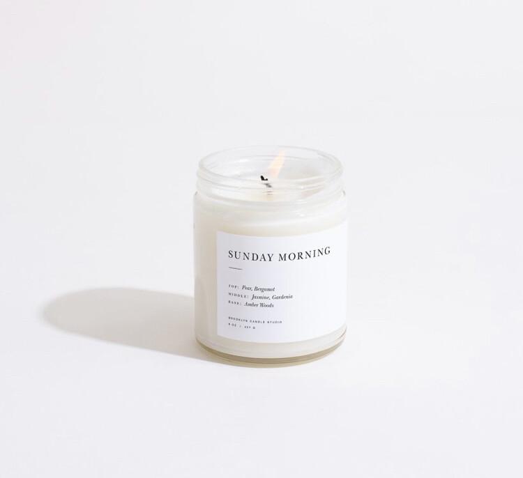 Brooklyn Candle, Minimalist, Sunday Morning