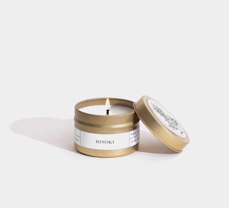 Brooklyn Candle, Gold Travel, Hinoki