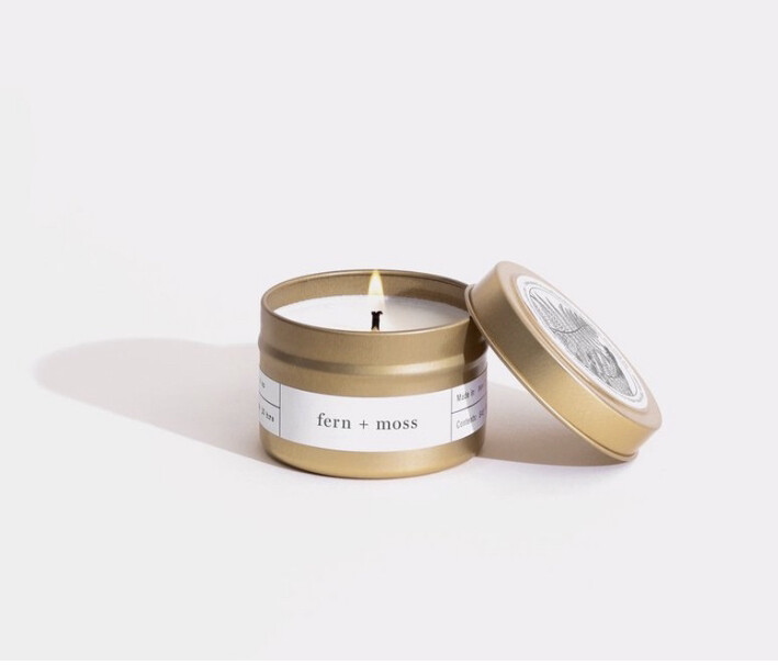 Brooklyn Candle, Gold Travel, Fern & Moss