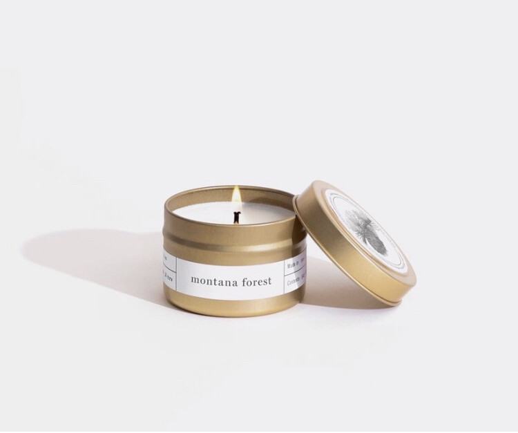 Brooklyn Candle, Gold Travel, Montana Forest