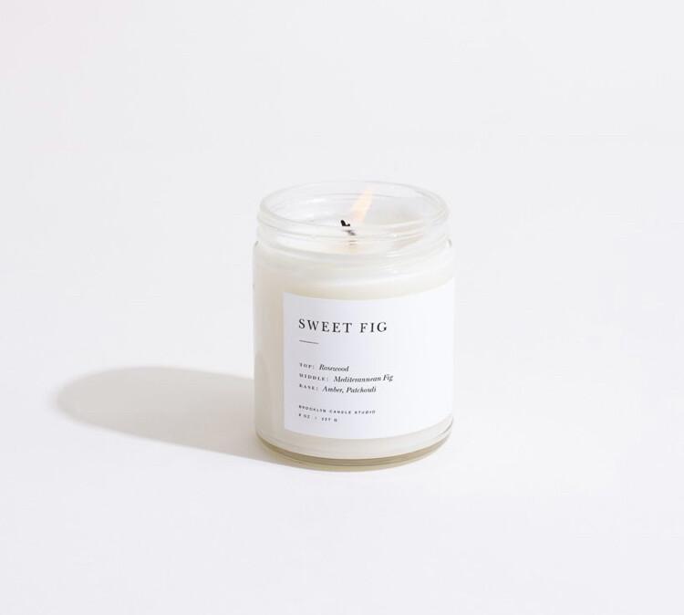 Brooklyn Candle, Minimalist, Sweet Fig