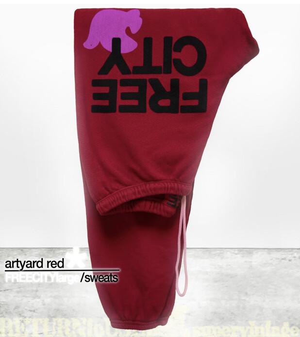 Free City, FreeCityLarge Sweatpants, Art Yard Red