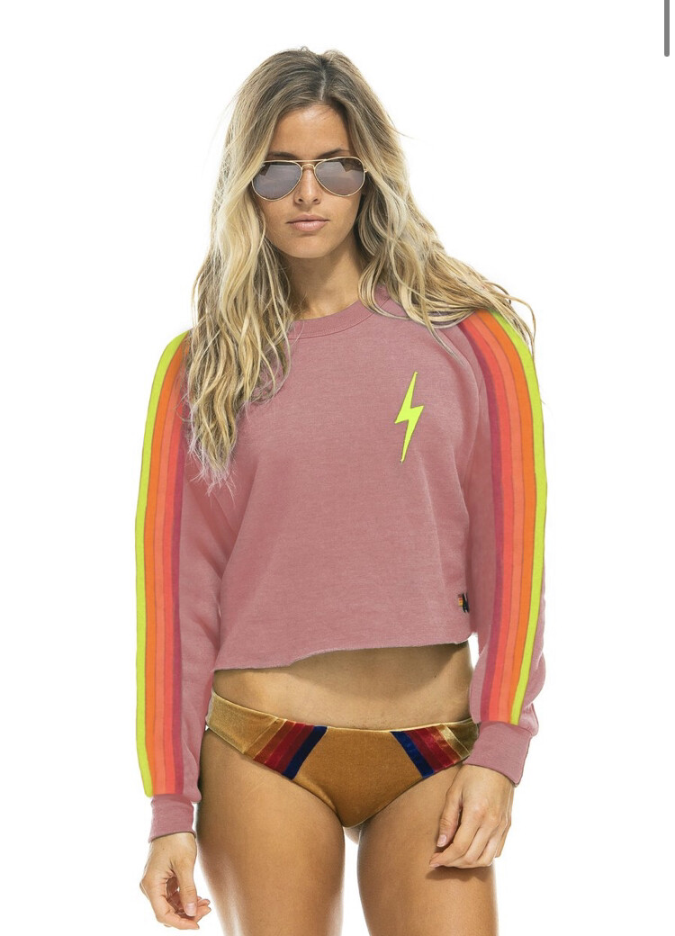 Aviator Nation, Bolt Cropped Classic Crew