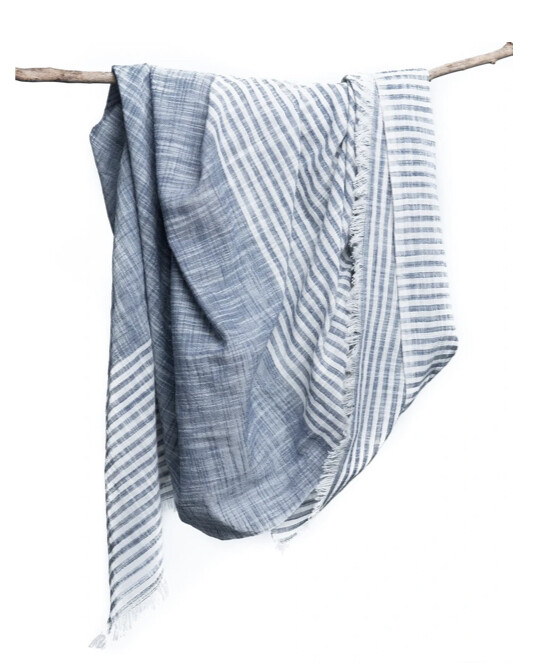 Bloom & Give, Malabar Khadi Scarf, Blue