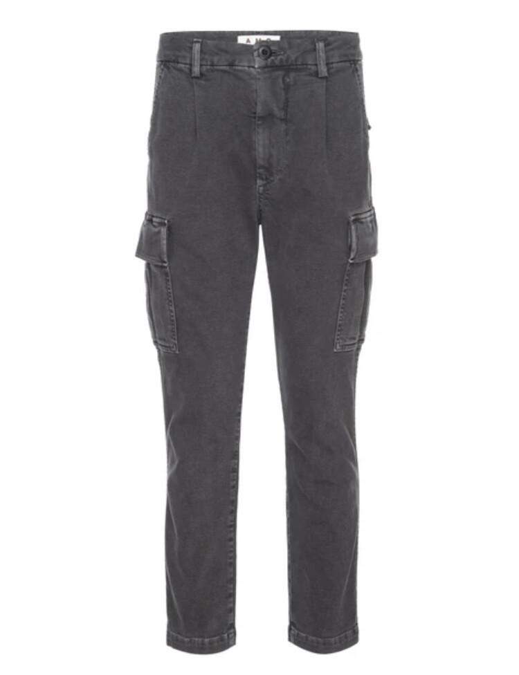 AMO Denim, Easy Cargo Pants, Washed Black