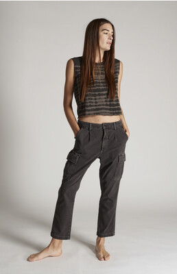 AMO Denim, Easy Cargo Pants, Washed Black