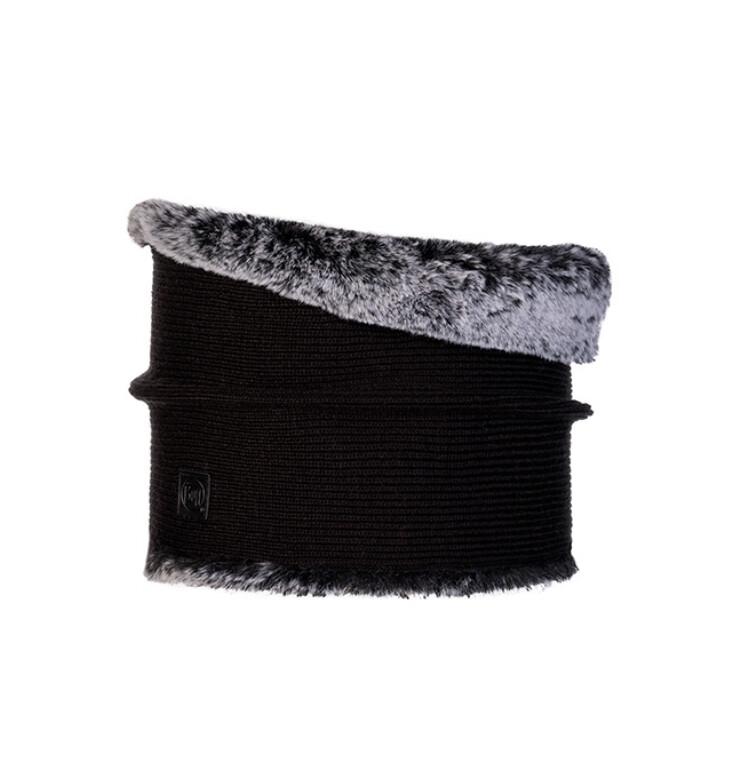 Buff, Kesha Knitted Neckwarmer, Black