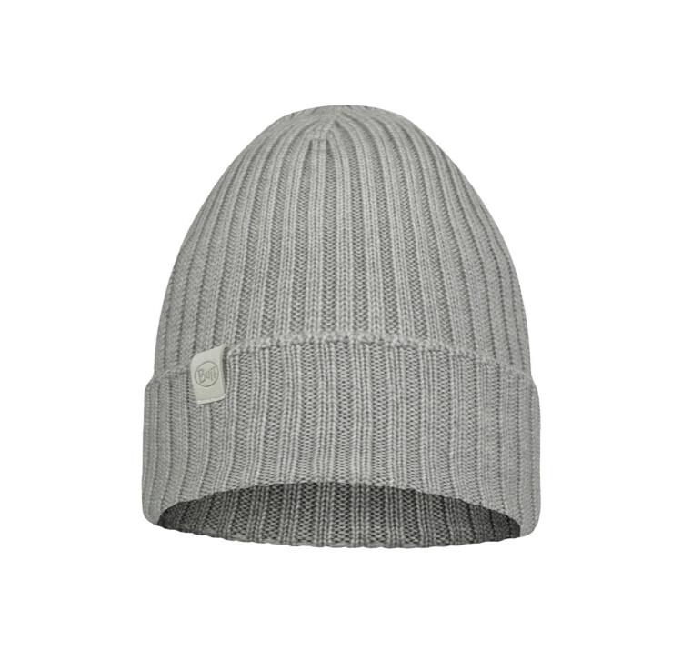 Buff, Ervin Knitted Hat, Light Grey